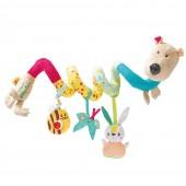Спиральная игрушка-подвеска медведь Цезарь