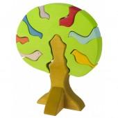 """Конструктор деревянный """"Дерево с птицами, светлое"""""""