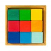 """Конструктор деревянный """"Разноцветный кубик"""""""