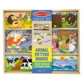 """Набор деревянных карточек/картинок """"Животные"""""""