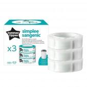 Сменная кассета для накопителя подгузников Sange Simplee 3 шт