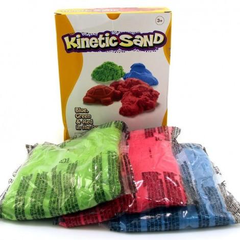 Кинетический песок цветной- набор 3 цвета: красный, зелёный, голубой (в коробке 3кг)  (арт. 150-309)