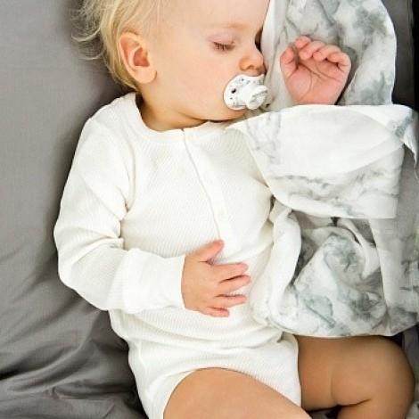 Детский плед 2 шт. из бамбука Marble Grey