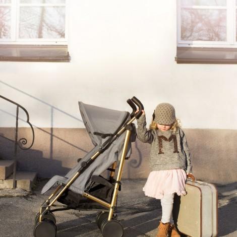 Прогулочная коляска - трость Stockholm Stroller 2.0- Golden Grey