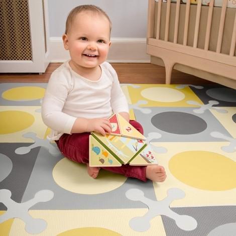 Игровой коврик-пазл  Playspot Grey/Yellow  (арт. 245011)