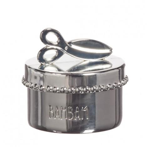 Коробочка для первого локона (серебро)  (арт. BB 81462)