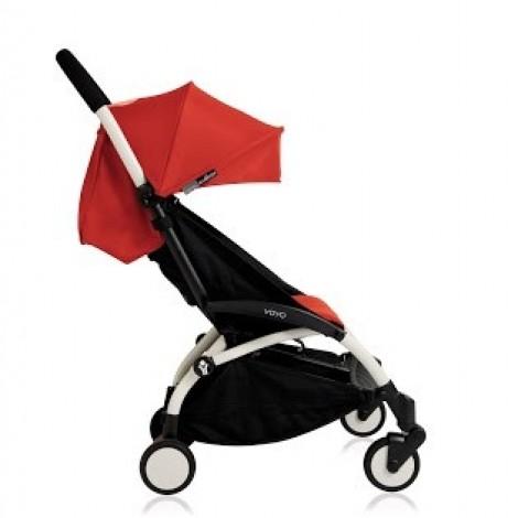 Прогулочная коляска  YOYO+ 6+ (комплект красный на белом шасси)  (арт. 2221000000557)