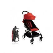 Прогулочная коляска  YOYO+ 6+ (комплект красный на белом шасси)