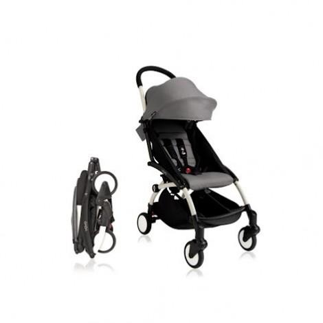 Прогулочная коляска  YOYO+ 6+ (комплект серый на белом шасси)  (арт. 2221000000540)