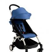 Прогулочная коляска  YOYO+ 6+ (комплект синий на белом шасси)