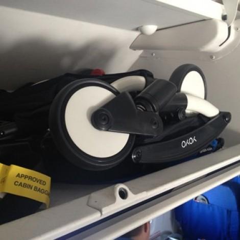 Прогулочная коляска  YOYO+ 6+ (комплект чёрный на белом шасси)  (арт. 2221000000564)