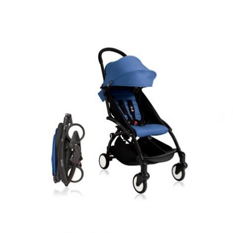 Прогулочная коляска  YOYO+ 6+ (комплект синий на чёрном шасси)  (арт. 2221000000649)