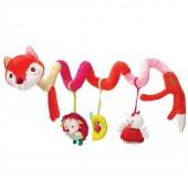 Спиральная игрушка-подвеска лисичка Алиса