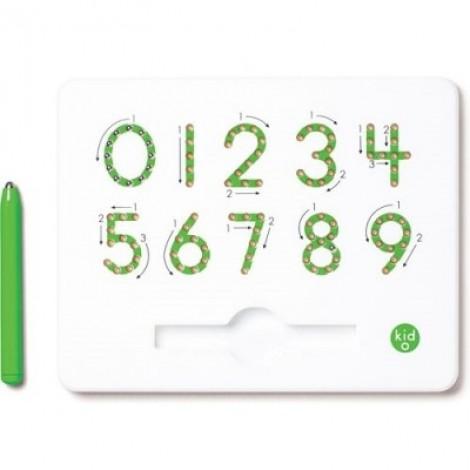 Магнитная досточка для изучения цифр от 0 до 9 (зеленая)  (арт. 10347)