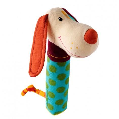 Погремушка-пищалка собачка Джеф  (арт. 86278)