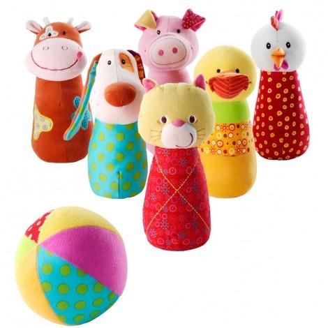 Набор мягких игрушек для детского боулинга Ферма  (арт. 86280)