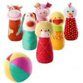 Набор мягких игрушек для детского боулинга Ферма
