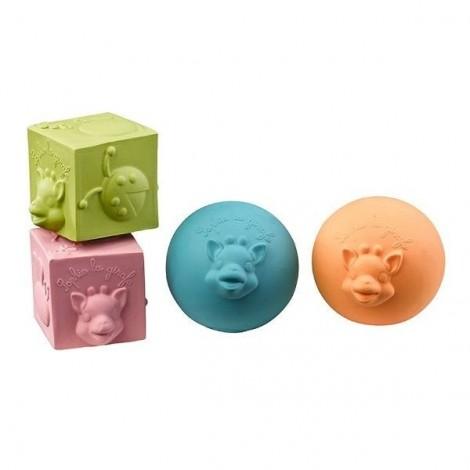 Каучуковые кубики и шарики  (арт. 220119)