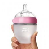 Силиконовая антиколиковая бутылочка 150ml (Pink)