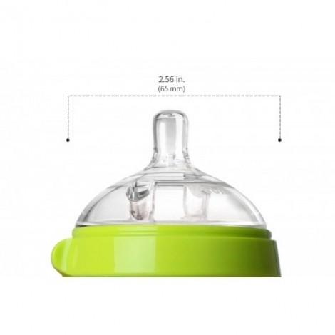 Силиконовая антиколиковая бутылочка 150ml (Pink)  (арт. 150P-EN)