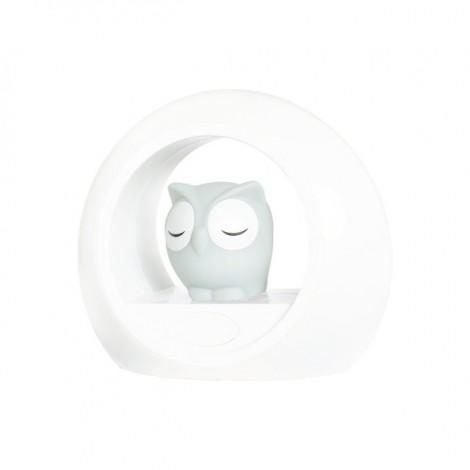 Детский ночник со звуковой активацией, Совёнок Лу (цвет серый)  (арт. ZA-LOU-01)