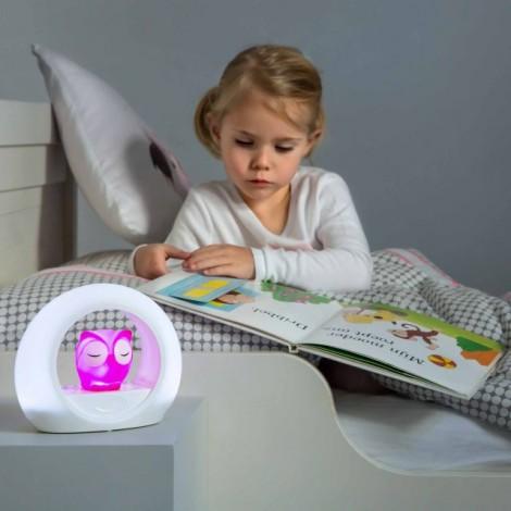 Детский ночник со звуковой активацией, Совёнок Лу (цвет розовый)  (арт. ZA-LOU-03)