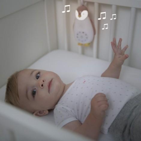 Детский ночник и музыкальный бокс Пингвинёнок Зое (цвет розовый)  (арт. ZA-ZOE-03)