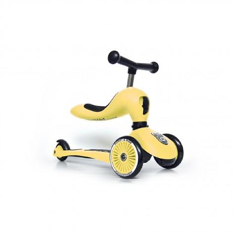 Самокат Scoot and Ride серии Highwaykick-1 лимон, до 3 лет/20кг  (арт. SR-160629-LEMON)