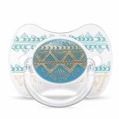 Пустышка силиконовая Suavinex Couture, 4-18 мес., голубой