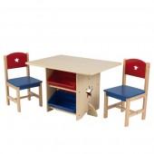 Детский стол с ящиками и 2 стульями Kidkraft