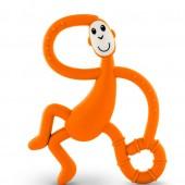 Игрушка-прорезыватель Matchstick Monkey Танцующая Обезьянка (цвет оранжевый, 14 см)