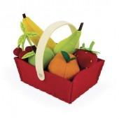 Игровой набор Janod Корзина с фруктами 8 элементов