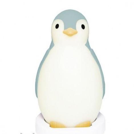 Светильник-ночник с автоматическим отключением Пингвиненок Пем, синий  (арт. ZA-PAM-02)