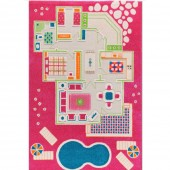 Ковер IVI 3D Play Carpets Playhouse Pink 80×113 см