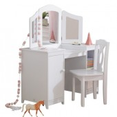 Туалетный столик Deluxe Vanity and Chair Kidkraft