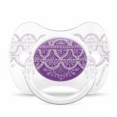 Пустышка силиконовая Suavinex Couture, 4-18 мес., фиолетовый