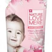 """Кондиционер-ополаскиватель для детской одежды с экстрактом цветков вишни """"Cherry Blossom"""" Nature Love Mere 1,3 л, Корея"""
