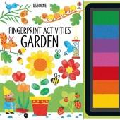 Книга пальчиковая раскраска Fingerprint Activities: Garden, Usborne™