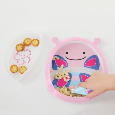 Тарелка-миска Zoo Smart Serve Plate Бабочка SKIP HOP  (арт. 252230)