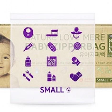 Пакет с застежкой для хранения детских вещей, подгузников, игрушек Nature Love Mere , 29х25см (L) 15 шт.  (арт. 8809402091478)