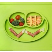 EZPZ - Силиконовая тарелка Happy Mat, цвет Lime