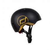 Шлем защитный детский Scoot and Ride, черный, с фонариком, 45-51см (XXS/XS)