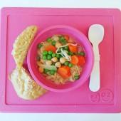 EZPZ - Силиконовая тарелка Happy Bowl, цвет pink