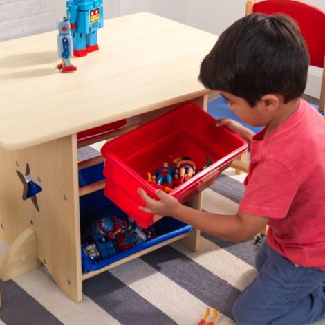 Детский стол с ящиками и 2 стульями Kidkraft  (арт. 26912)