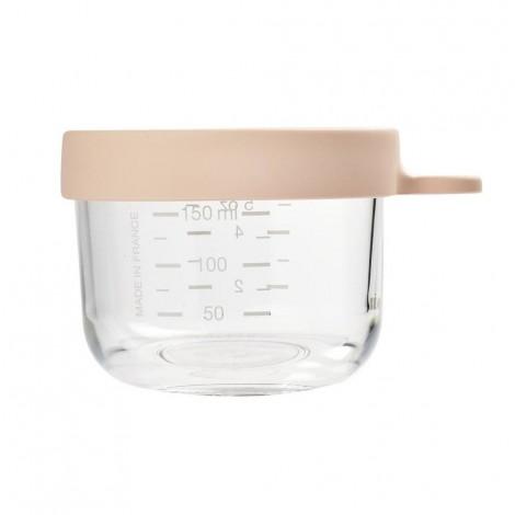 Стеклянный контейнер для хранения 150 мл, розовый - Beaba  (арт. 912649)