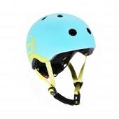 Шлем защитный детский Scoot and Ride, голубика, с фонариком, 45-51см (XXS/XS)
