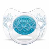 Пустышка силиконовая Suavinex Couture, 0-4 мес., голубой