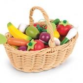 Игровой набор Janod Корзина с овощами и фруктами 24 элемента