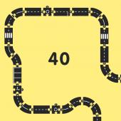 """Гибкая автомобильная трасса """"Королевская дорога"""" (40 дорожных частей, длина 648 см) WAYTOPLAY"""
