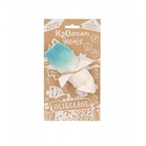 """Натуральный прорезыватель для зубов """"Кит Оригами"""" Oli&Carol  (арт. L-H2ORIGAMIWHALE-UNIT)"""